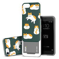 아이폰876 슬라이더 냥냥이 카드케이스