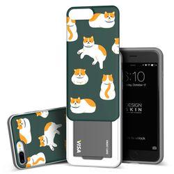 아이폰876플러스 슬라이더 냥냥이 카드케이스