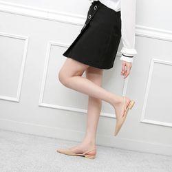 [쿠루] 여성 2cm 스텔레토 슬링백 플랫 G7003