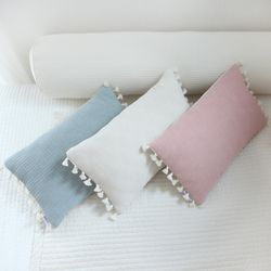 솜사탕 태슬 베개커버(핑크) [40x25cm커버만]