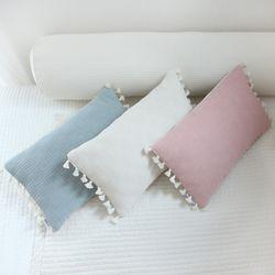 솜사탕 태슬 베개커버(핑크) [50x35cm커버+일반솜]