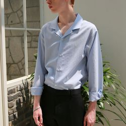 쿨링 오픈카라 셔츠 (4color)