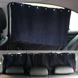 VIP 차량용 햇빛가리개 스웨이드 자동차커튼 (네이비)