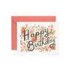 Floral Burst Birthday Greeting Card