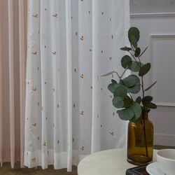 여우 화이트&핑크(패턴)
