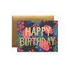 Floral Foil Birthday Greeting Card