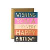 Color Block Birthday Greeting Card