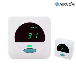 에어봄 휴대용 미세먼지 초미세먼지 측정기 Airvom T