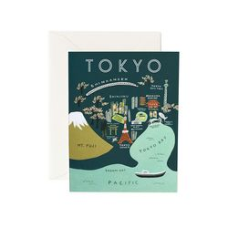 Tokyo Map Greeting Card