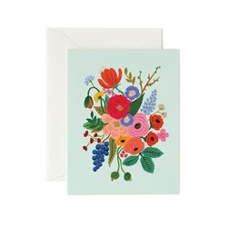 Garden Party Mint Greeting Card
