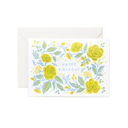 Jardin Birthday Letter Press Card