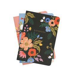 Lively Floral Stitched Notebook