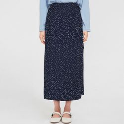 tiny dot long skirt
