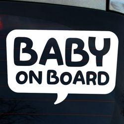 타이포 말풍선 BABY ON BOARD(반사지)