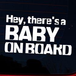 타이포 hey BABY ON BOARD(화이트)