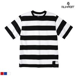 뉴해빗 - basic wide stripe border T-shirts