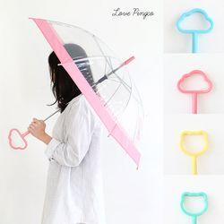 손잡이우산 캐릭터우산 투명우산 귀여운우산 장우산