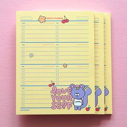 POMPON WEEKLY PLANNER-3
