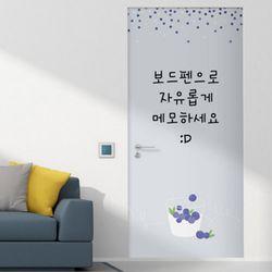 ci026-칠판현관문시트지블루베리