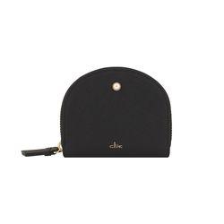 [6월신상] 진주 지퍼 카드지갑-블랙 CLAB18601CBL