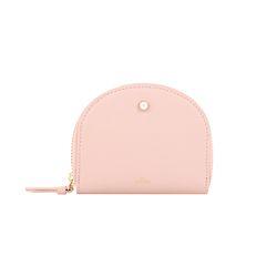[6월신상] 진주 지퍼 카드지갑-핑크 CLAB18601CBL