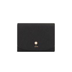 [6월탄생석] 그레이스펄 반지갑 -블랙 CLAB18602SBL