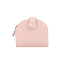 [6월신상] 진주 반달 중지갑 -핑크 CLAB18603SPL