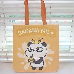 판다퐁 컬러에코백 바나나우유