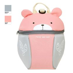LILIKU[릴리쿠]유아백팩 미아방지가방 핑크 베어