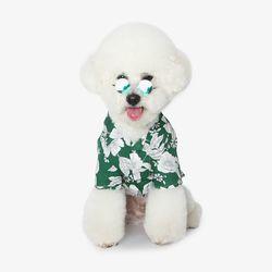 강아지 하와이안셔츠 - 그린
