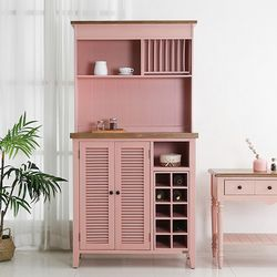 BN-100 프렌치 주방 그릇장(pink)