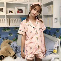 아이스크림 투피스 안대세트 여름잠옷 상하세트