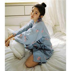 민트 체리 원피스 유카타 잠옷 일러스트딸기