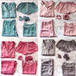 7종 세트 잠옷 ver.01 단색 실키 스타일