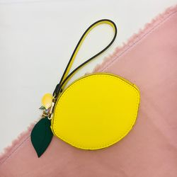[과일 키링 참 증정] 과즙팡팡 레몬 과일 지갑 (AG2C8612OAYY)