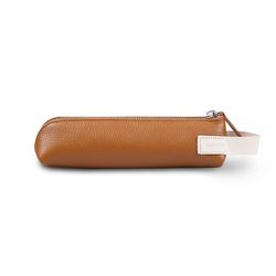 Zippered Pencil Case (펜슬케이스) Tan (가죽)