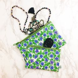 FLOWER PATTERN POUCH ver.3 (Midium)