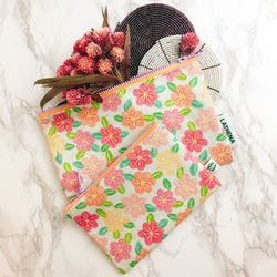 FLOWER PATTERN POUCH ver.6 (Small)