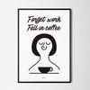 유니크 디자인 포스터 M 커피에 퐁당 A3(중형)