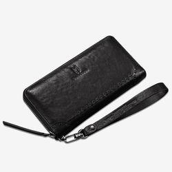 망베르스 가죽 지퍼형 장지갑 클러치 MA9014 BLACK
