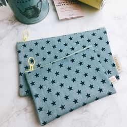 LITTLE STAR DENIM POUCH - SKY BLUE (Midium)