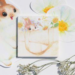 미니 메모패드 (토끼의 옷장 에코백)