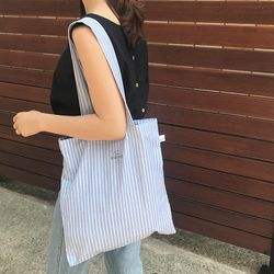 summer blue stripe bag ( hand made )