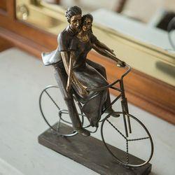 NY1843 자전거 여인 장식인형
