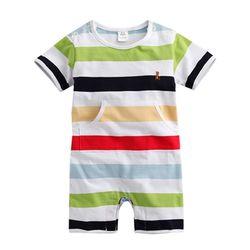 스트라이프 포켓 베어 우주복 (3-24개월) 203572