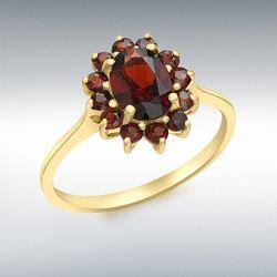 [런던골드 9ct Gold] Garnet Cluster Ring