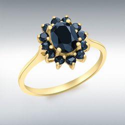 [런던골드 9ct Gold] Sapphire Cluster Ring
