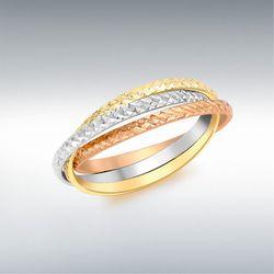 [런던골드 9ct Gold] Diamond Cut Russian Band Ring