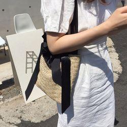 에코백 Raffia bag (BLACK)