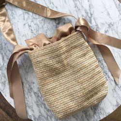 에코백 Raffia bag (GOLD)